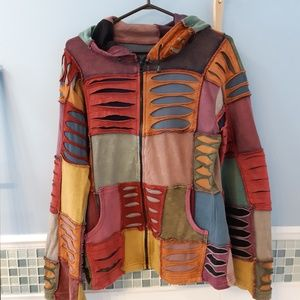 Tops - Multi color sweather hoodie with zipper